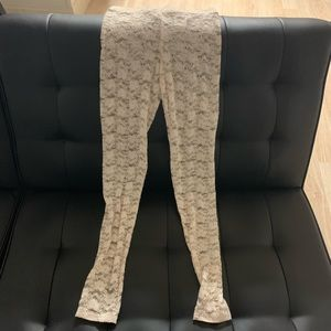 White flower Leggings